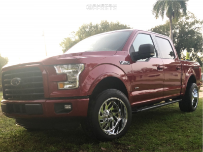 2015 Ford F-150 - 20x12 -43mm - Fuel Triton D609 - Stock Suspension - 305/50R20