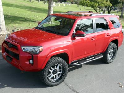 "2020 Toyota 4Runner - 20x9 0mm - Moto Metal Mo987 - Suspension Lift 2.5"" - 275/55R20"