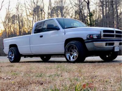 "1998 Dodge Ram 2500 - 20x12 -44mm - Moto Metal Mo962 - Level 2"" Drop Rear - 285/50R20"