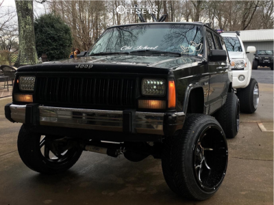 """1996 Jeep Cherokee - 20x12 -51mm - Vision Prowler - Suspension Lift 4.5"""" - 255/45R20"""