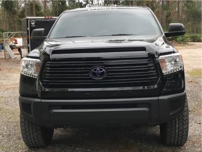 "2017 Toyota Tundra - 20x9.5 15mm - V-Rock Anvil - Leveling Kit - 33"" x 12.5"""