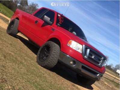 "2007 Ford F-150 - 20x12 -44mm - Fuel Full Blown - Leveling Kit - 33"" x 12.5"""
