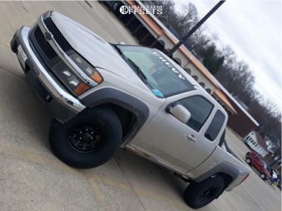 2009 Chevrolet Colorado - 16x8 -6mm - Black Rock D Widow - Stock Suspension - 245/75R16