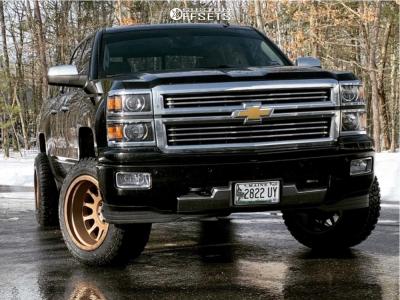 "2014 Chevrolet Silverado 1500 - 20x12 -52mm - Method Mr605 - Suspension Lift 2.5"" - 33"" x 12.5"""