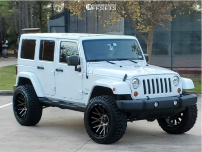 "2012 Jeep Wrangler JK - 22x12 -44mm - V-Rock Recoil - Suspension Lift 3.5"" - 35"" x 12.5"""