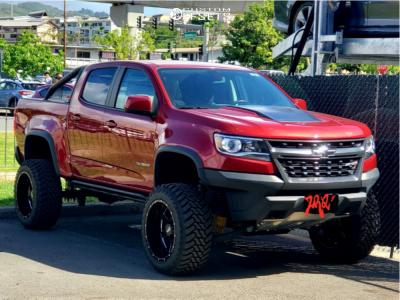 "2018 Chevrolet Colorado - 20x12 -44mm - Moto Metal Mo962 - Suspension Lift 4"" - 33"" x 12.5"""