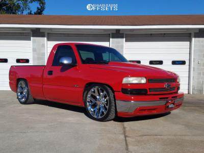 2002 Chevrolet Silverado 1500 - 22x9 24mm - Wheel Replicas V1182 - Lowered 5F / 7R - 255/30R22