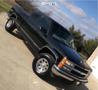 "1998 Chevrolet K1500 - 16x8 -12mm - Pacer Lt - Stock Suspension - 31"" x 10.5"""
