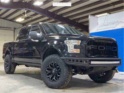 2015 Ford F-150 - 18x9 1mm - Fuel Assault - Leveling Kit - 295/70R18