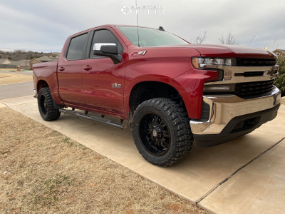 """2019 Chevrolet Silverado 1500 - 20x9 -12mm - Panther Offroad 580 - Suspension Lift 3"""" - 33"""" x 12.5"""""""