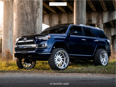 "2016 Toyota 4Runner - 24x12 -40mm - American Force Spirit Ss - Suspension Lift 7"" - 33"" x 12.5"""