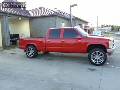"1999 Chevrolet Silverado 2500 - 22x12 -44mm - Gear Off-Road Big Block - Suspension Lift 4"" - 33"" x 12.5"""