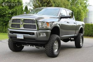 """2012 Ram 3500 - 17x7 43mm - Spaced Out Stockers Spaced Out Stockers - Suspension Lift 8"""" - 37"""" x 13.5"""""""