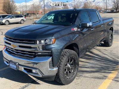 2019 Chevrolet Silverado 1500 - 20x9 1mm - Fuel Maverick - Leveling Kit - 285/60R20