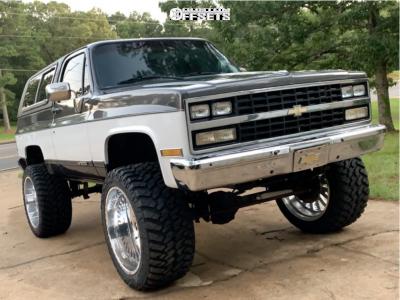 "1990 Chevrolet Blazer - 24x14 -73mm - American Force Octane Ss - Suspension Lift 4"" - 375/40R24"