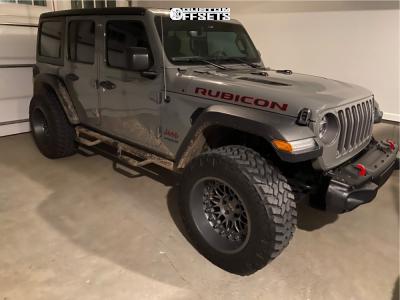 "2018 Jeep Wrangler - 20x11.5 -44mm - Black Rhino Fury - Stock Suspension - 35"" x 12.5"""