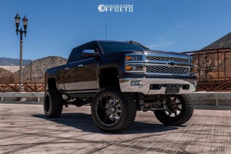 "2016 Chevrolet Silverado 1500 - 24x14 -76mm - Gear Off-Road Wrath - Suspension Lift 12"" - 40"" x 15.5"""