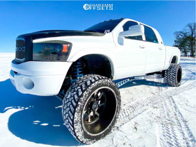 """2009 Dodge Ram 2500 - 24x14 -73mm - American Force Whiskey Sf - Suspension Lift 8"""" - 375/40R24"""