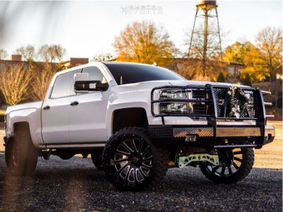 "2014 Chevrolet Silverado 1500 - 26x14 -76mm - Hardcore Offroad Hc15 - Suspension Lift 7"" - 35"" x 13.5"""
