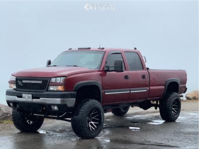 "2005 Chevrolet Silverado 2500 HD Classic - 22x14 -76mm - Dropstars 654mb - Suspension Lift 8"" - 37"" x 13.5"""