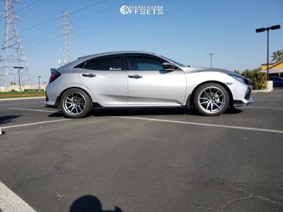 2017 Honda Civic - 18x9 35mm - Konig Oversteer - Stock Suspension - 245/40R18