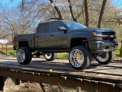 "2017 Chevrolet Silverado 1500 - 26x16 -112mm - American Force Morph Cc - Suspension Lift 8"" - 38"" x 15.5"""