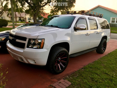 2012 Chevrolet Suburban 1500 - 20x10 -19mm - Fuel Contra - Leveling Kit - 275/55R20