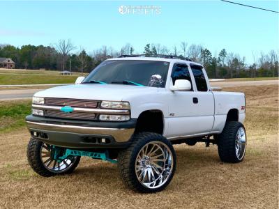 """2000 Chevrolet Silverado 1500 - 26x14 -72mm - Tuff T2a - Suspension Lift 6"""" & Body 3"""" - 37"""" x 13.5"""""""
