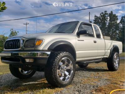 "2004 Toyota Tacoma - 20x9 0mm - Hostile Hammered - Suspension Lift 3"" - 275/55R20"