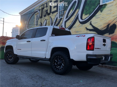 2018 Chevrolet Colorado - 17x9 0mm - Fuel Cleaver - Leveling Kit - 285/70R17