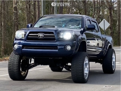 """2005 Toyota Tacoma - 22x12 -40mm - American Force Trax Ss - Suspension Lift 9.5"""" - 35"""" x 12.5"""""""