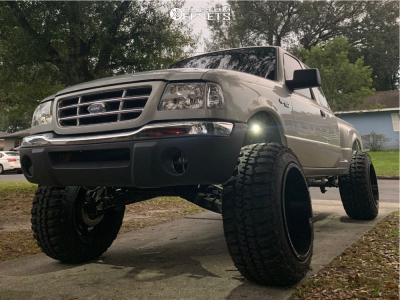 """2002 Ford Ranger - 20x14 -76mm - XF Offroad Xf-203 - Suspension Lift 8"""" - 33"""" x 12.5"""""""