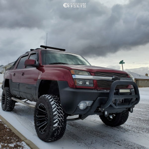 "2004 Chevrolet Avalanche 1500 - 20x12 -44mm - Savage Sa13 - Suspension Lift 5"" - 35"" x 12.5"""
