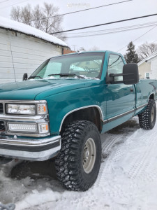 """1994 Chevrolet K1500 - 15x7 -6mm - American Racing Outlaw Ii - Stock Suspension - 33"""" x 12.5"""""""