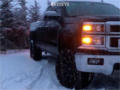 "2014 Chevrolet Silverado 1500 HD - 20x9 1mm - Fuel Battle Axe - Suspension Lift 3.5"" - 33"" x 12.5"""