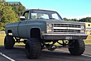 "1984 Chevrolet K10 - 15x14 -114.3mm - MRW N/A - Suspension Lift 7.5"" - 33"" x 14"""