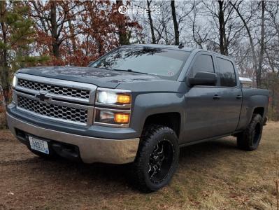"2014 Chevrolet Silverado 1500 - 20x10 -24mm - Havok H109 - Suspension Lift 2.5"" - 33"" x 12.5"""