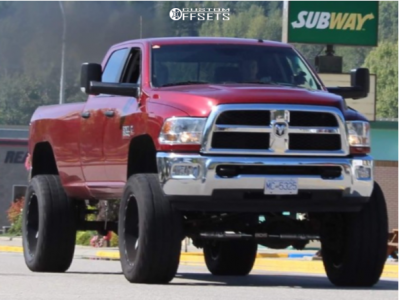 """2015 Ram 3500 - 24x12 -44mm - Cali Offroad Distorted - Suspension Lift 8"""" - 40"""" x 15.5"""""""