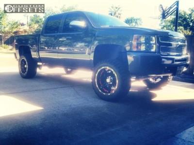 "2011 Chevrolet Silverado 1500 - 20x10 -25mm - Flexx Offroad M80 - Suspension Lift 6"" - 33"" x 12.5"""