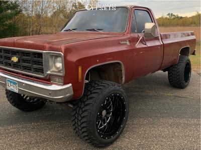 "1977 Chevrolet K10 - 22x14 -76mm - Scorpion Sc22 - Suspension Lift 4"" - 325/50R22"