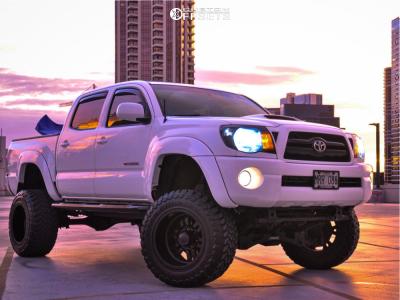 "2008 Toyota Tacoma - 18x12 -44mm - Alloy Ion Terminator - Suspension Lift 8"" - 33"" x 12.5"""