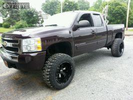 "2008 Chevrolet Silverado 1500 - 20x12 -44mm - Hostile Hammered - Suspension Lift 7"" - 35"" x 12.5"""