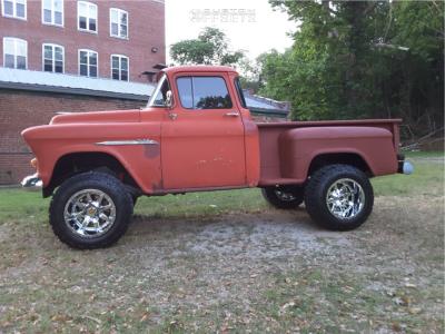 """1955 Chevrolet 3100 - 18x12 -44mm - Fuel Maverick D536 - Suspension Lift 6"""" - 33"""" x 12.5"""""""