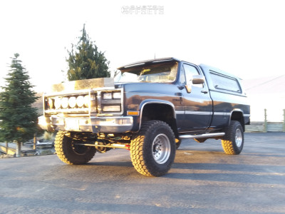 """1985 Chevrolet K20 - 16x10 -25mm - American Racing Outlaw Ii - Suspension Lift 4"""" - 33"""" x 12.5"""""""