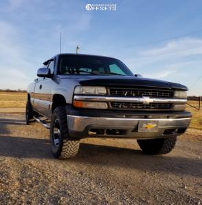 "1999 Chevrolet Silverado 1500 - 16x9 -12mm - Devino DV349 - Suspension Lift 3"" - 305/70R16"