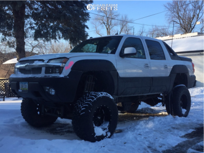 """2005 Chevrolet Avalanche - 18x12 -44mm - Moto Metal Mo962 - Lifted >12"""" - 38"""" x 15.5"""""""