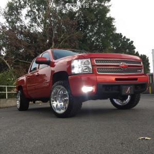 "2012 Chevrolet Silverado 1500 - 22x12 -40mm - American Force Trax Ss - Leveling Kit - 33"" x 12.5"""