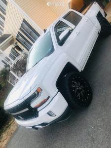 2018 Chevrolet Silverado 1500 - 20x9 0mm - Dropstar 645mb - Stock Suspension - 275/55R20