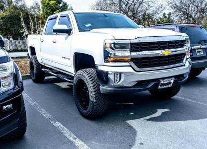 "2016 Chevrolet Silverado 1500 - 20x10 -25mm - Cali Offroad Rawkon - Suspension Lift 7"" - 35"" x 12.5"""