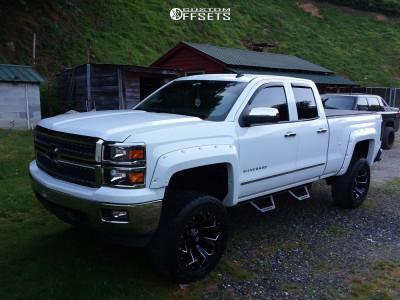 "2014 Chevrolet Silverado 1500 - 20x10 -18mm - Fuel Assault - Suspension Lift 7"" - 35"" x 12.5"""